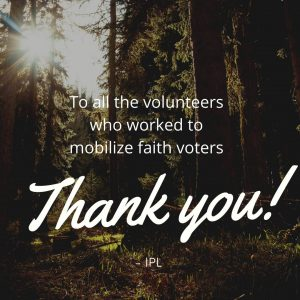 Faith Climate Justice Voter Campaign Helped to Mobilize Faith Voters